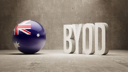 Australia. Byod  Concept