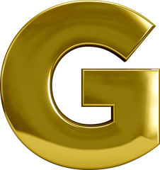 Golden Metal Letter G