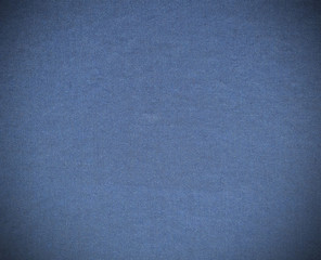 Vignette Blue fabric texture for background