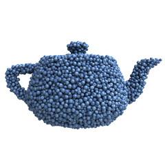 Teapot of blueberries