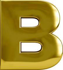 Gold Metal Letter B