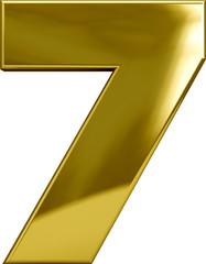 Gold Metal Number 7