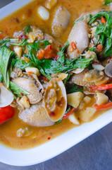 Stir fried clams