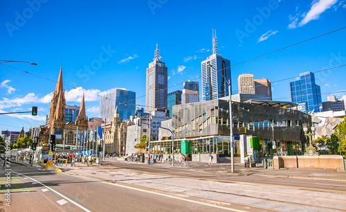 Poster Oceanië Federation Square in Melbourne, Australia.