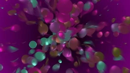 Purple flow background 4K