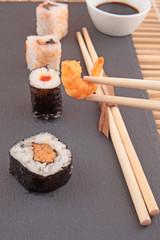 Garnele mit Sushi Platte