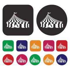 circus tent icon / tent icon