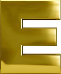 Gold Metal Letter E