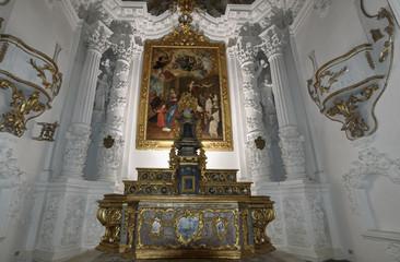 Italy, Sicily, Scicli, S. Teresa Baroque Church, altar