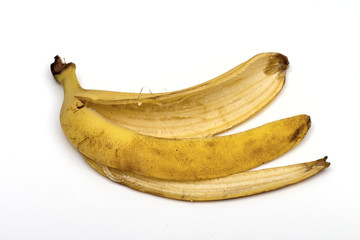 banana on the white background
