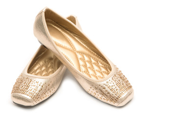 Pair of beige female shoes