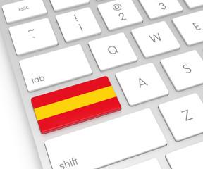 Spain Flag on Computer Key
