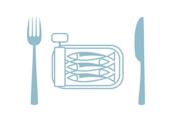 Sardines vector icon on white background