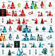 Large mega collection of Christmas cards and elements