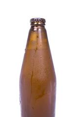 dark bottle of chilled beer