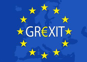 Europakarte mit Grexit