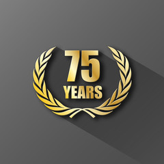 75 YEAR ANNIVERSARY Icon (twenty-five years wreath prize)