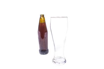 bottle of dark beer and glass