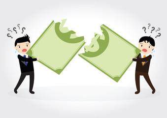 Fighting over money