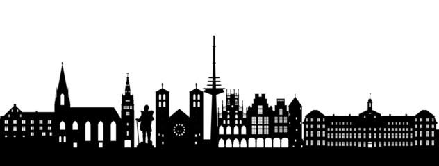 Münster Silhouette abstrakt