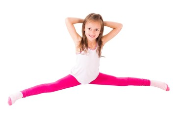 Little Girl Doing Splits
