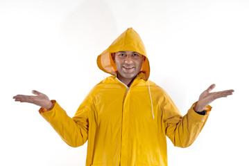 man  wit raincoat