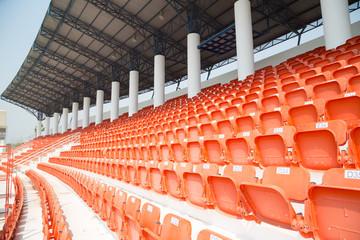 amphitheater of orange seats