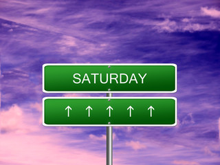 Saturday Day Background Sign