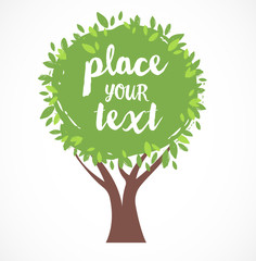 vector tree illustration, background with a place for text