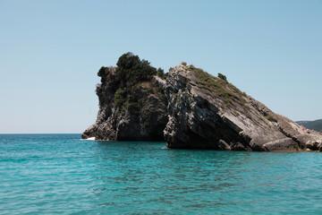 Mini island with rocks