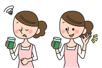 女性 青汁 飲む