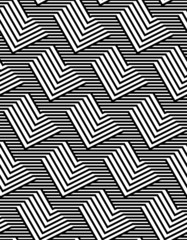 Op Art Design, Zig Zag Striped Vector Seamless Pattern