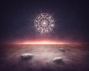 Zodiac signs horoscope lanscape