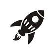 Flying rocket icon - 77895514