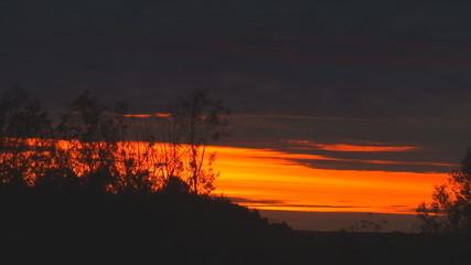 Sky. Red Sunset