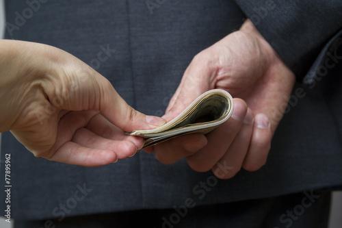 Leinwanddruck Bild Concept - corruption