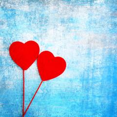 zwei rote Herzen
