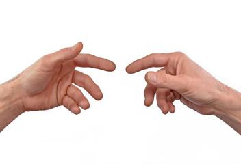 Concepto de fraternidad,contacto,unión,tocando manos.