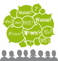 W-Fragen, Vektor