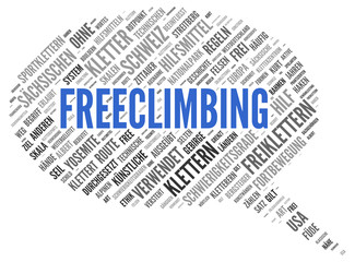 FREECLIMBING | Modern Konzept Word Tag Cloud