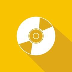 Icono CD amarillo sombra