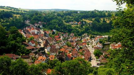 Stadt Wildberg im Schwarzwald mit Nagold