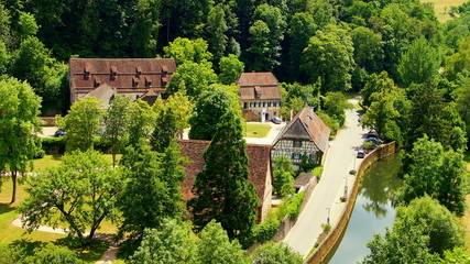 Wildberg Schwarzwald Kloster Reuthin von oben