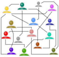 Netzwerk Beziehungen Network  150209-02