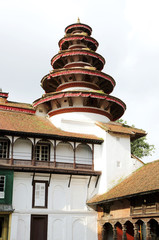 Round tower at the corner in Nasal Chowk Courtyard