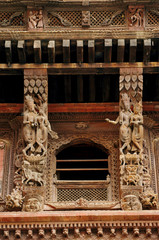 Ancient design and sculpture in the in Nasal Chowk Courtyard