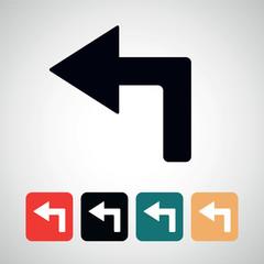 arrow left.