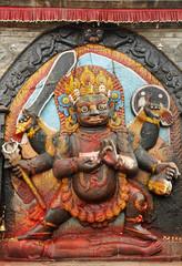 Kal Bhairav statue in Hanuman Dhoka square