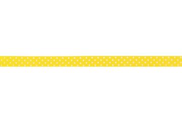 Decorative yellow ribbon design. Isolated on white