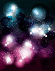 vector background with glowing glitter light effects